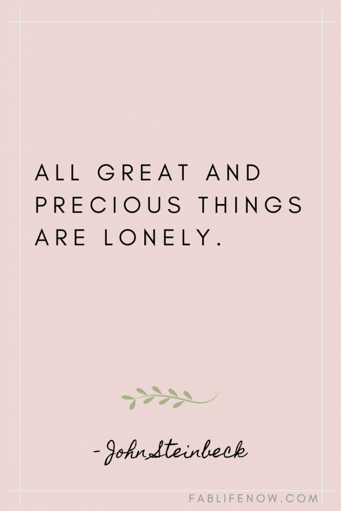 great things are lonely quote
