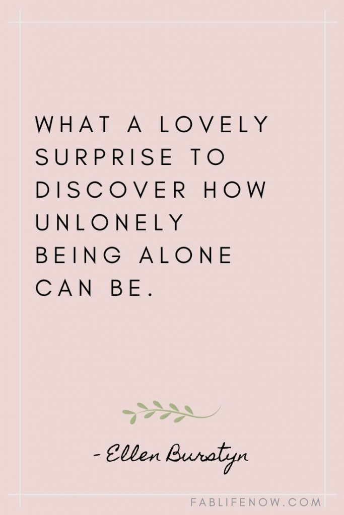 lovely surprise being alone