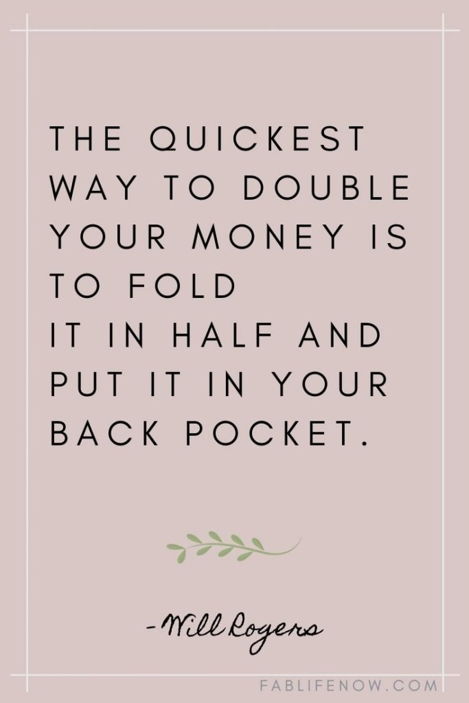 double your money quote