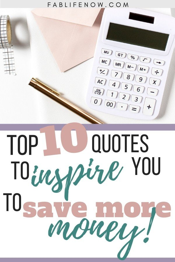 10 quotes to help you save more money