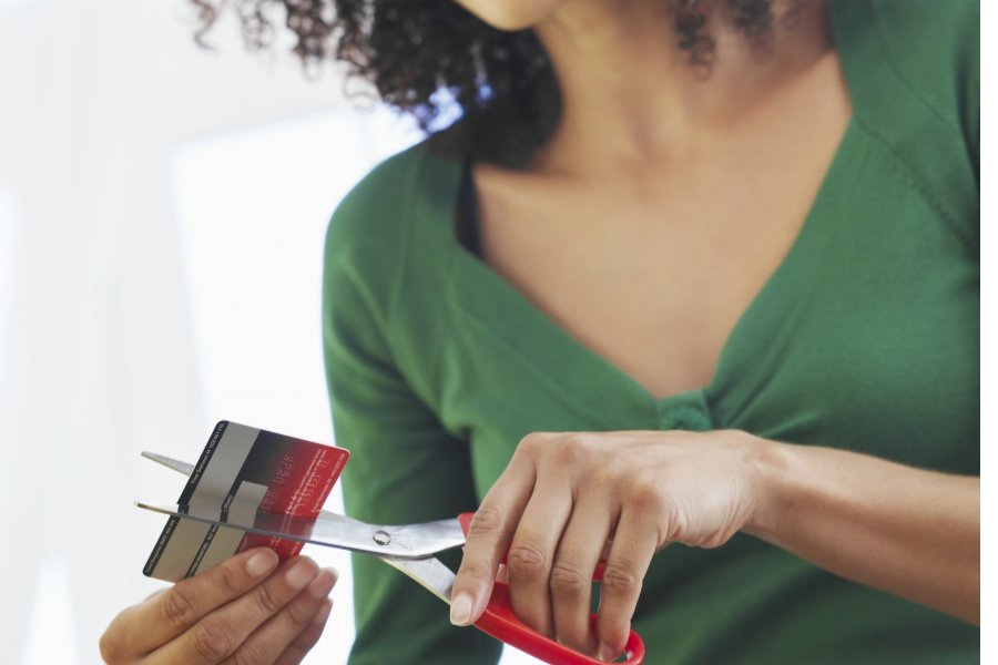 cut up a credit card if it has a balance